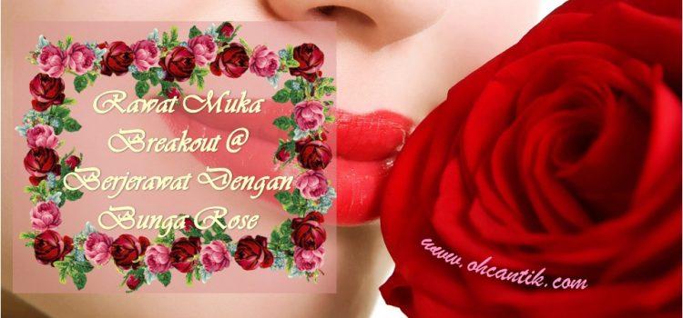 Rawat Muka Breakout Dengan Bunga Mawar Organik
