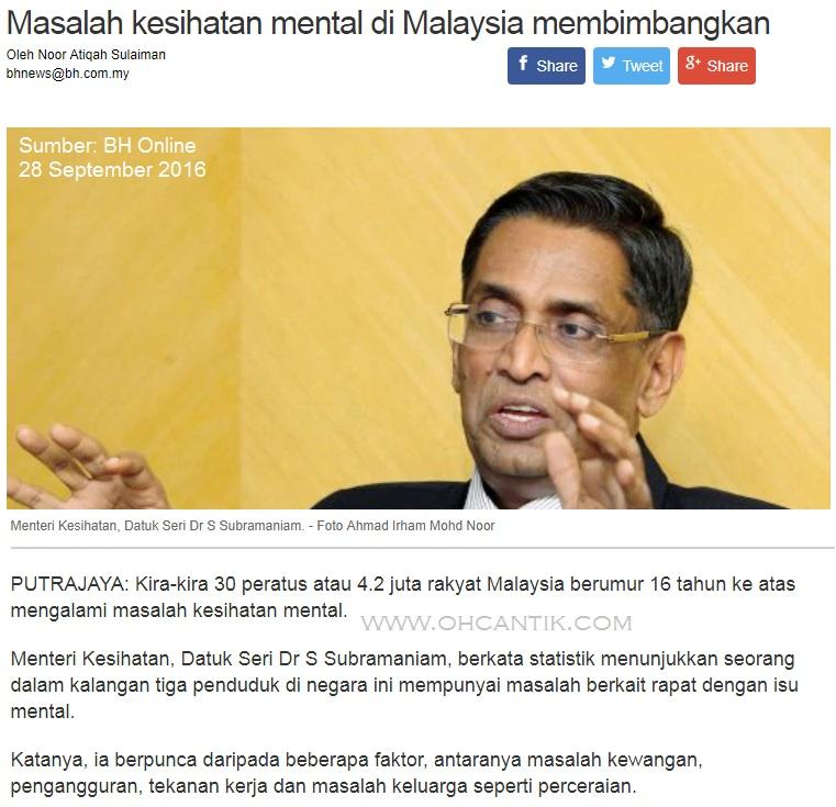 masalah mental di malaysia