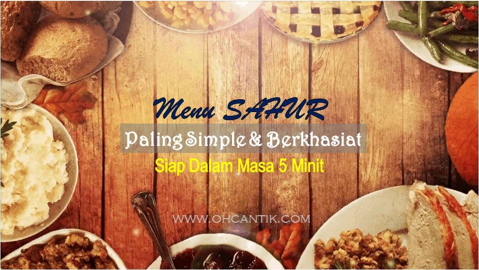 menu sahur paling simple