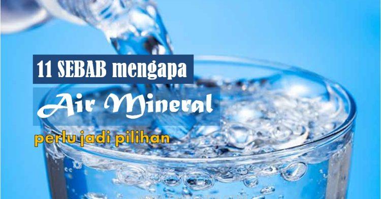 kelebihan minum air mineral